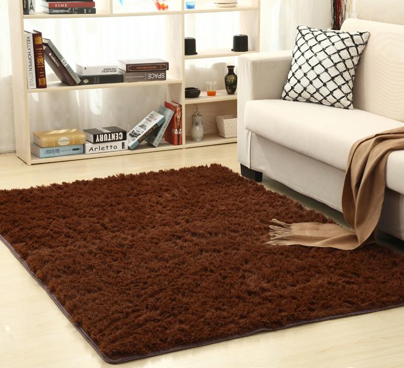 Living Rooms Bedroom Shaggy Soft Carpet Door Floor