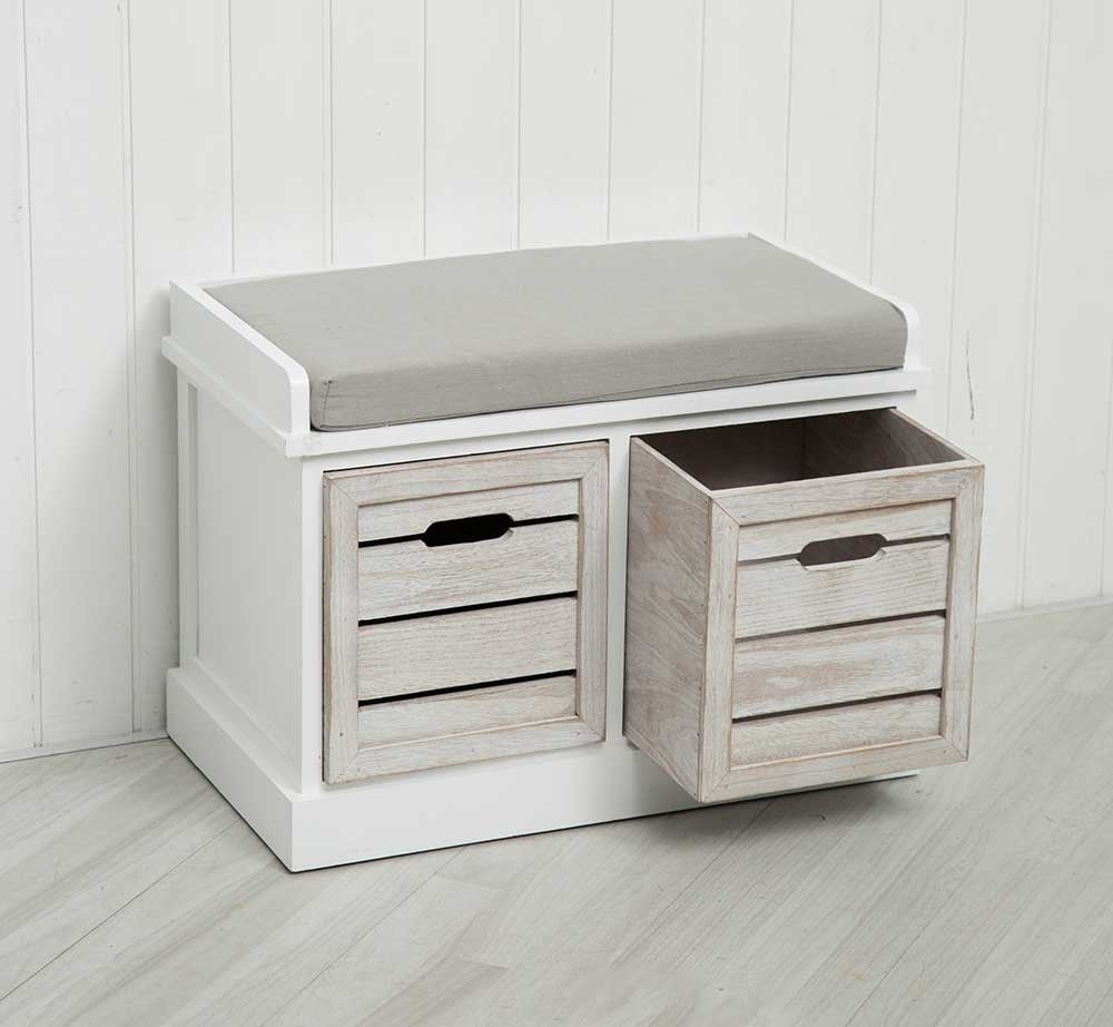 Bedroom Storage Bench With Drawers Bedroom Apartment Platform Bed Bedroom Ideas Bedroom Decorating Ideas Black And Grey: 2 Drawer Crate Bench With Seat Pad Bedroom Hallway Seating