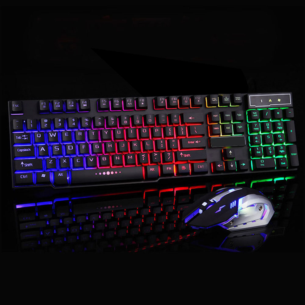 usb wired gaming keyboard rainbow led light mechanical for pc laptop ps4 xbox 711005755597 ebay. Black Bedroom Furniture Sets. Home Design Ideas